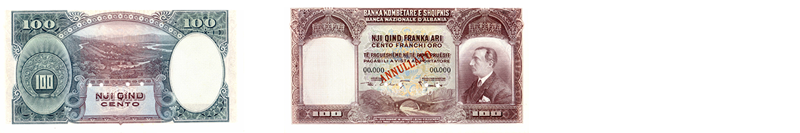 100 Gold Franc / 5 Lekë 1926