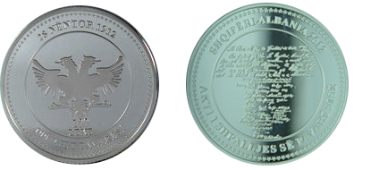 "Commemorative 100 Leke ""100th Anniversary of the Declaration of Independence"""