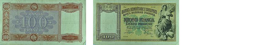 100 Francs, 1940