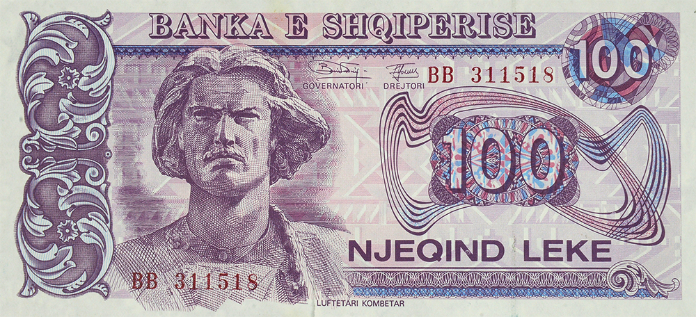 100 LEKE, issued in 1993 and 1994.