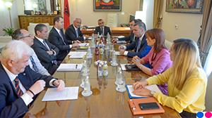 Guvernatori Sejko zhvillon një takim me anëtarët e Bordit Drejtues të Shoqatës Shqiptare të Bankave, 24 korrik 2019
