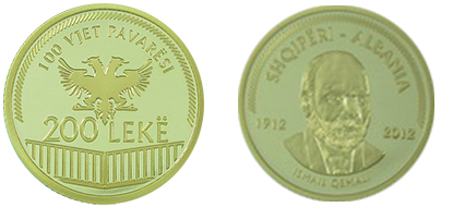 "Commemorative 200 Leke ""100th Anniversary of the Declaration of Independence"""