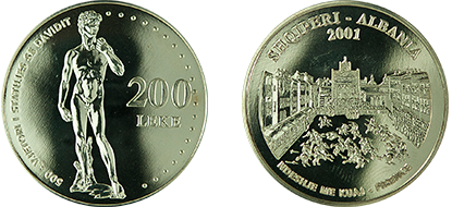 "Commemorative 200 Leke ""500th Anniversary of the Statue of David"""
