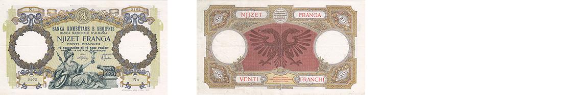 20 Francs, 1939