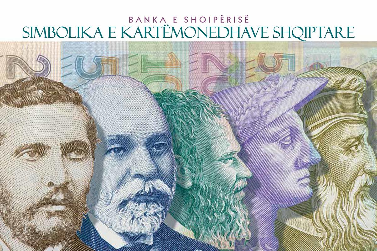 Albanian banknotes historical symbols