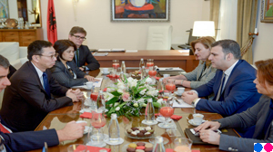 Governor Sejko receives the IMF's DMD Tao Zhang in an official visit to the Bank of Albania