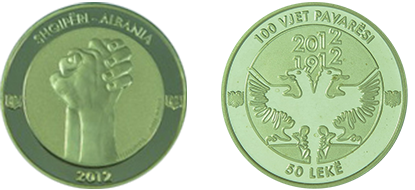 "Commemorative 50 Leke ""100th Anniversary of the Declaration of Independence"""