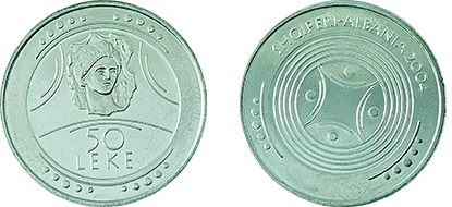 "Commemorative 50 Leke ""Albanian Antiquity"" (the Beauty of Durrës)"