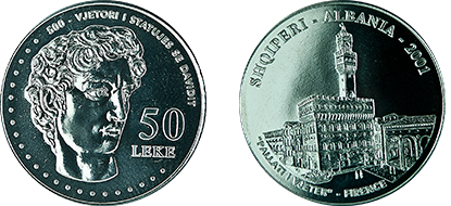 "Commemorative 50 Leke ""500th Anniversary of the Statue of David"""