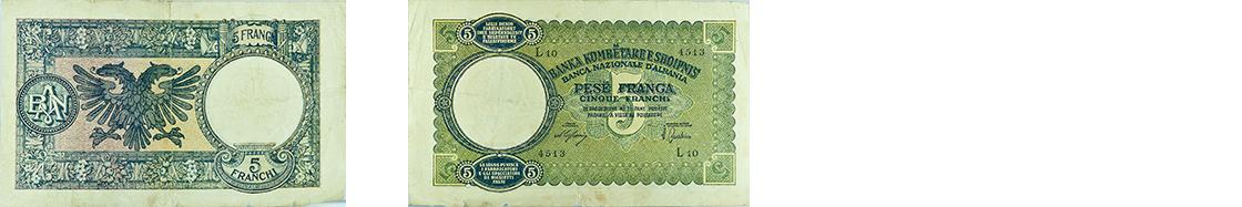 5 Francs, 1939