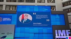 Guvernatori Sejko gjatë zhvillimit të Mbledhjeve Vjetore të Fondit Monetar Ndërkombëtar dhe Bankës Botërore, 18-20 tetor 2019