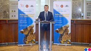 """Ceremonia e promovimit të librit """"Paraja, bankat dhe shoqëria. Bashkudhëtimi historik që nga fillesat deri në kohët moderne"""", 22.02.2019"""