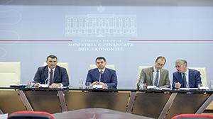 Guvernatori Sejko në konferencën e përbashkët me Shefin e Misionit të FMN-së dhe Ministrin e Financave dhe Ekonomisë, 20.11.2018