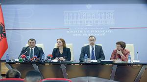 Guvernatori Sejko në konferencën e përbashkët për shtyp me Shefin e Misionit të FMN-së dhe Ministren e Financave dhe Ekonomisë, 6 maj 2019