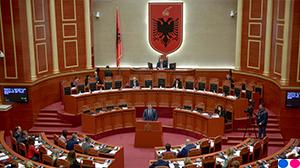 Guvernatorit Sejko gjatë prezantimit të Raportit Vjetor të Bankës së Shqipërisë për vitin 2018 në Kuvendin e Shqipërisë