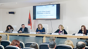 21.03.2018, First Deputy Governor Gjoni at the launching of Project GreenBack for Albania