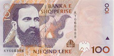 100 LEKE, issued 1996.