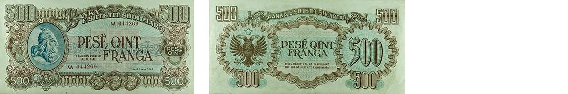 500 Francs, 1945