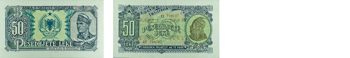 50 Lekë, 1949