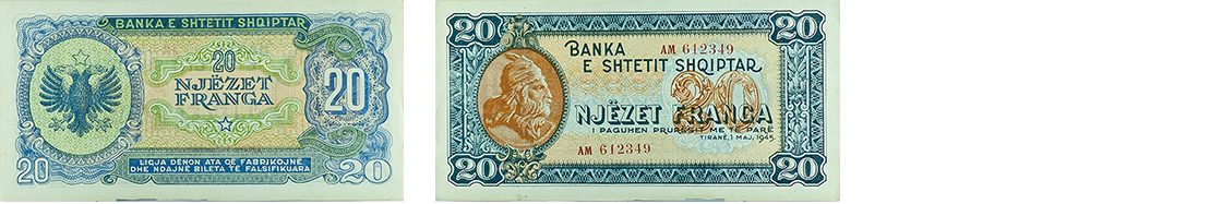20 Francs, 1945